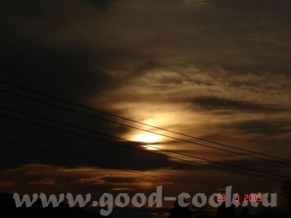 вот нашла вид на нашудеревню а это небо под которым мы живём наше заходящее солнышко, наше потому ч... - 4