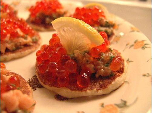 вегетарианская тема Риетт с двумя лососями на блинчике ot cher