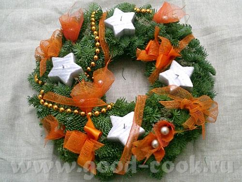 Рождественские хвойные венки и гирлянды - настоящие символы праздника - 2