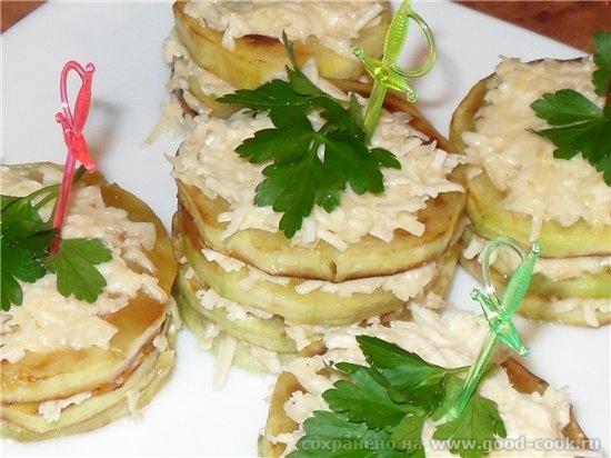 Кабачковые башенки от Салат овощной с брынзой Щи