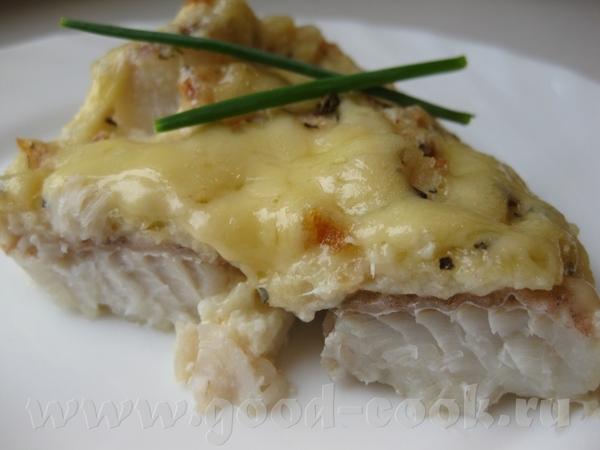 Рыба, запеченная под хлебным пудингом и сыром Основная идея из рецепта Ирины Кутовой здесь Делала я...