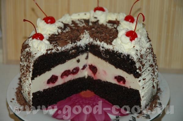 Шварцвальдский торт из книги Янник Лефор «Шоколадный день» Приготовьте шоколадный бисквит - 2
