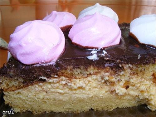 йогуртово-кофейный торт ЗА ОСНОВУ ВЗЯТ РЕЦЕПТ elka34 торт ПТИЧЬЕ МОЛОКО - 2