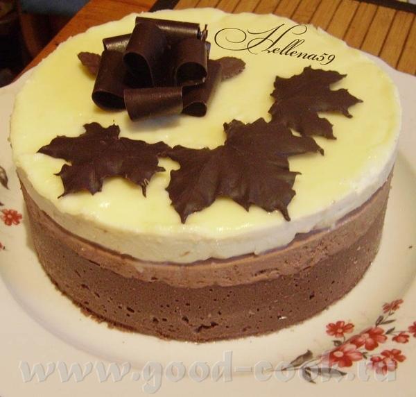 """Торт"""" Три шоколада"""" Источник ЗДЕСЬ Пошагово ТУТ Для шоколадного бисквита: - Мука пшеничная 100гр -..."""
