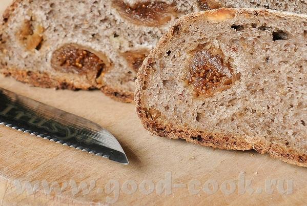 Неличка,спасибо за вкусный хлебушек Ржаной с инжиром и орехами на закваске