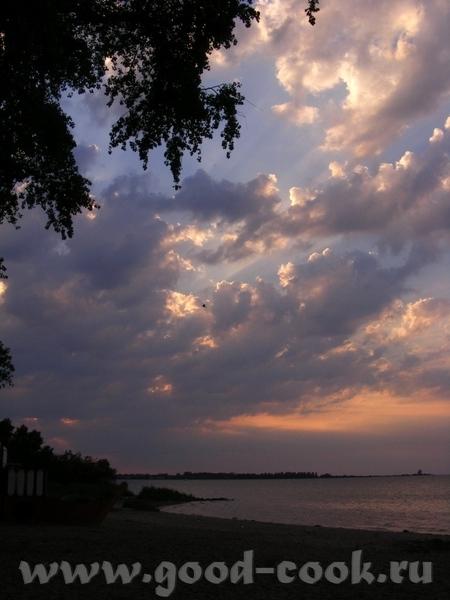 Ещё небо, облака, пламя заходящего солнца - 4