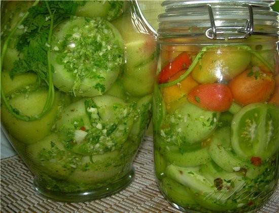 Еще один вкусный рецепт из прошлых моих тем, это Зеленые фаршированные томаты