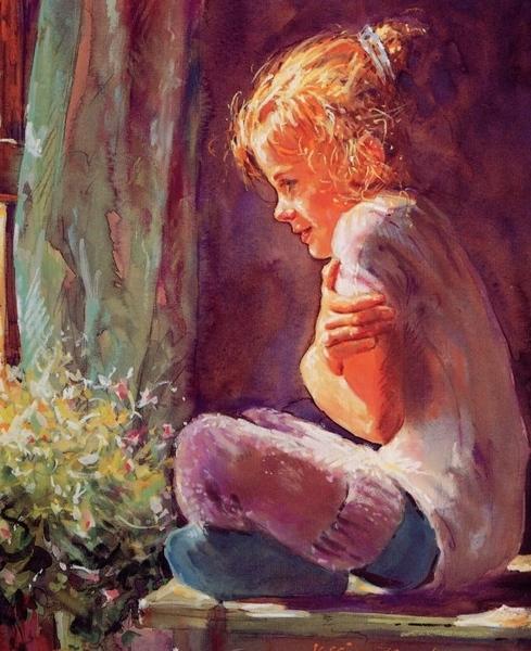 Девочки посмотрите не пожалеете,как гуашью пишет класно картины Мир солнечного детства моего… А адр...