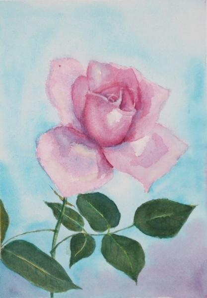 Вот роза моя и еще картинки акварельные Такую картину на холодильник вешать надо,чтоб с аппетитом б...
