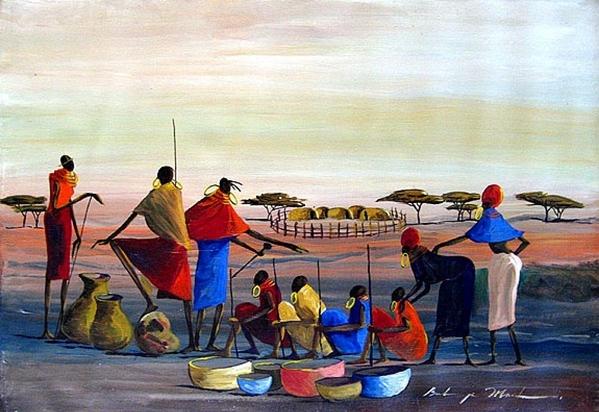 Вчера показали Африку Moder Art Decor, севодня- xудожники из Африки и то как они рисуют Африку Al A... - 8
