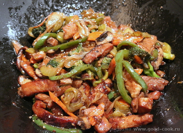 Свинина стир-фрай в соусе Хойсин