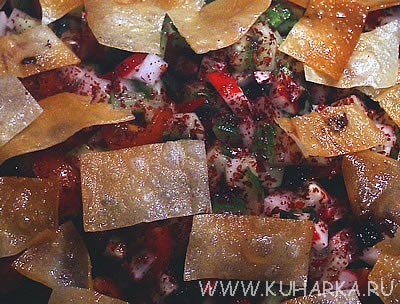 """сделала сегодня салат """"Фаттуш"""" с теми изменениями, о которых уже писала Я вспомнила, что этот салат..."""