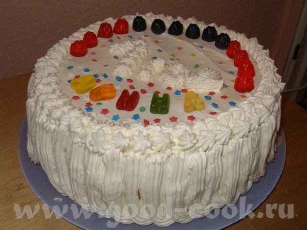 Первый тортик А ЛЯ ЧИЗ КЕЙК от Лолы, покрыт взбитыми сливками - 2