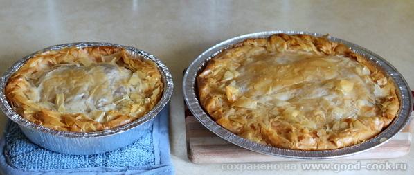 Картофельный пирог из теста Фило.