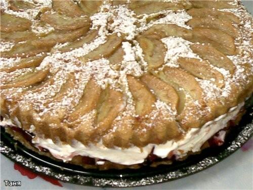 Пирог яблочный Пай с яблоками и смородиновым вареньем Грушевый пирог Пирог с бананми и сливами - 4