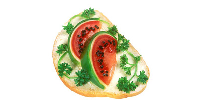 Бутерброд с арбузом