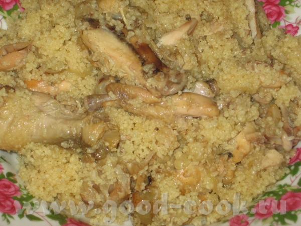 Еще один пятничный ужин с сентября: Если не перепутала, тоже курица в вине с кускусом, любят у нас...