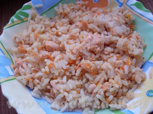 Имбирный рис с семгой