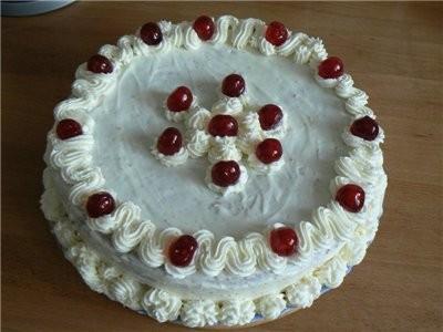"""На сладкое были фрукты, творожно-вишневый торт """"Очарование"""" от Ирины Кутовой, и Рулет 'Маковое..."""
