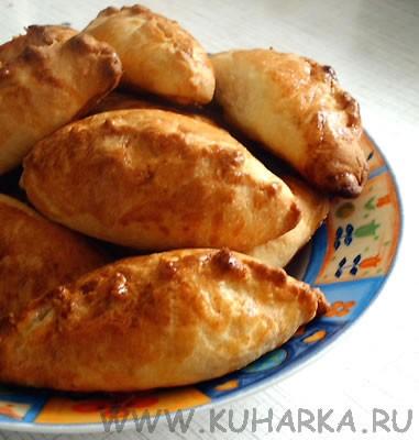На завтрак делала пирожки из хрущевского теста с начинкой из кураги с сах