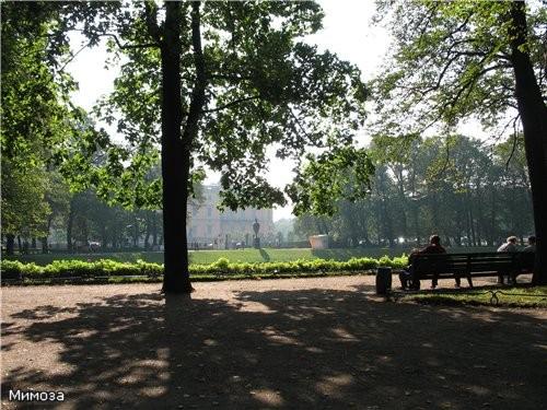 Дальше с выставки из Мухинского училища мы пошли гулять в Летний сад