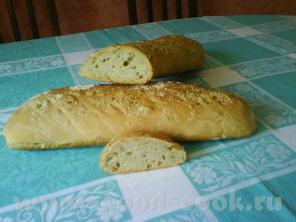 Батон с летними травами В кусок теста для Простого белого хлеба или Оливкового, вмешать мелко порез...
