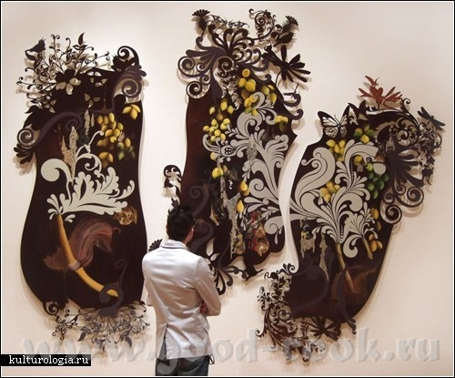 Нестардантные картины Резы Блэтман Она -3-4 месяца разрабатывает на компьютере дизайн,потом вырезае...