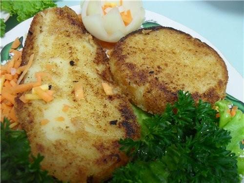 Котлеты картофельные Ингридиенты на 2 порции, 4 котлетки