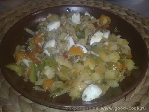 овощи с моцареллой