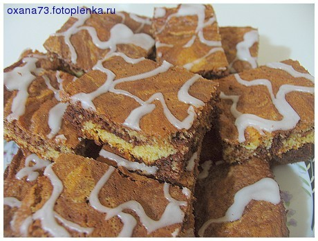 MARBLED CHOCOLATE TRAYBAKE (типа Зебры)