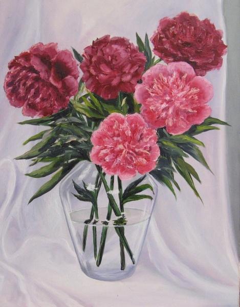 Мои новые картины Фиалка масло 20х30 см Рисовала с натуры Пионы Масло, 35х45 см Этюд с натуры в сту... - 2