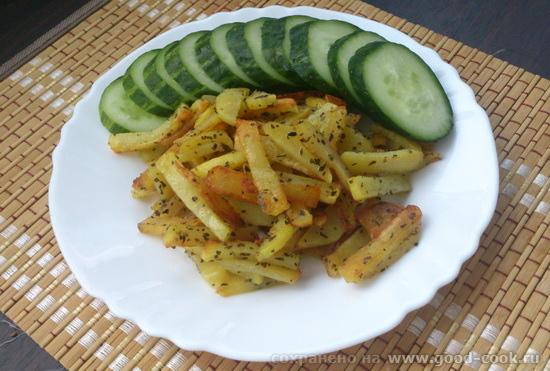 картошка жареная базилик