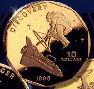 Юбилейная монетка в 10 баксов: