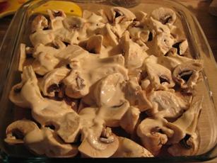 Филе индейки с шампиньонами в сметанно-горчичном соусе Филе индейки порезать кусочками 1-1,5 см тол... - 3