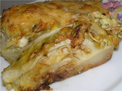 Чисто весеннее блюдо Запеченная молодая капуста 2 небольших кочана молодой капусты, 1 лук-порей, 2... - 2