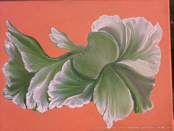 рисую белым цветом