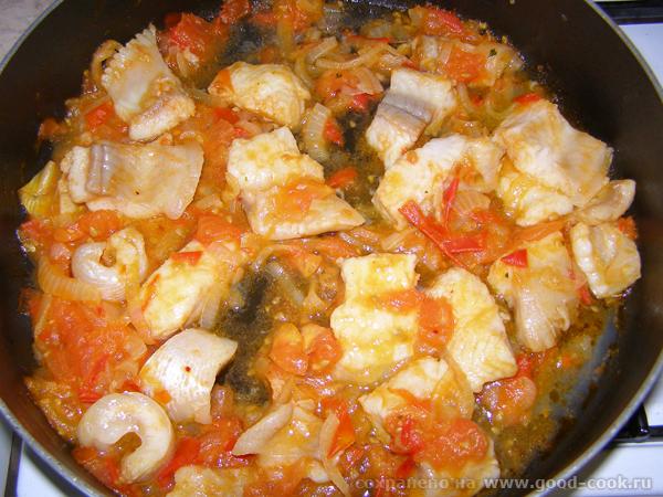 Подготовка рыбки с овощами в блюдо!