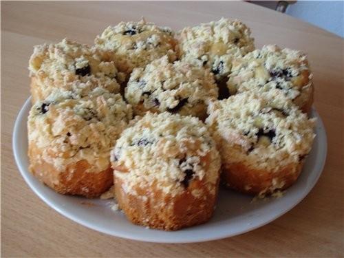 Пирожные с ежевикой - 2