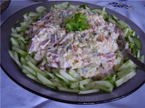 Вот такие салатики я готовила к празднику Пасхи - 2
