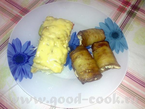 Девочки угощайтесь, это мой ужин рулетики из баклажанов фаршированные плавленным сыром с яйцом, чес...