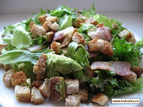 еще несу два салата с сухариками,оказались такие вкуснющие,были гости я делала с беконом,все сьели... - 3