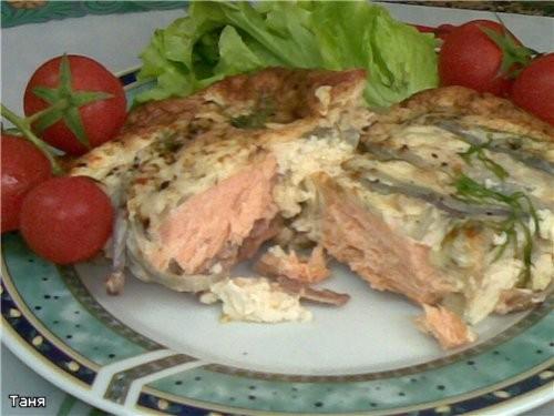 Рыбные котлетки Филе лосося под сливками и яйцом - 3