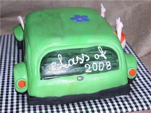 ТОРТ-МАШИНА Ето торт на завершение школы (обьединяет в себя всё, что с етим ассоциируется: любовь,... - 2