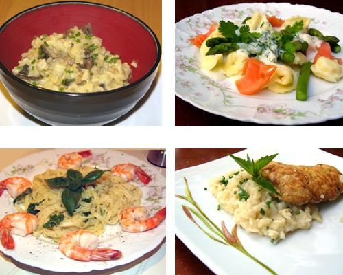 Блюда из пасты и риса Блюда из пасты PASTA PRIMAVERA Спагетти с оливковым маслом и чесноком Спагетт...