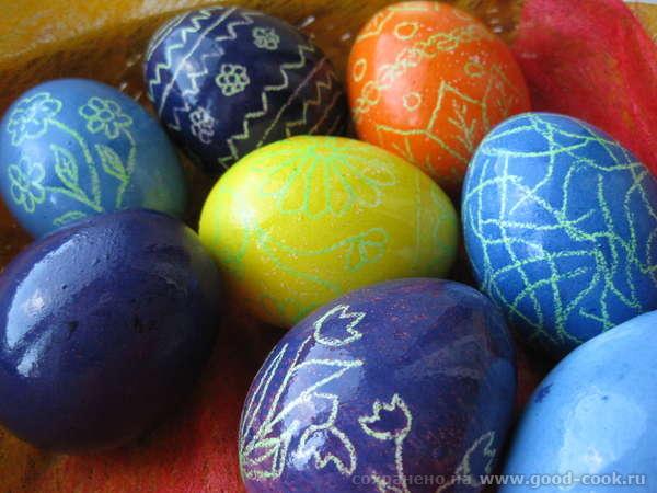 Сегодня пекла пасхальные куличи и красила яйца - 5
