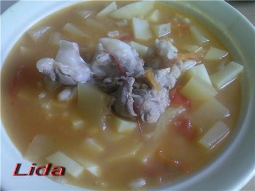 Рассольник (Суп перловый с кабачком