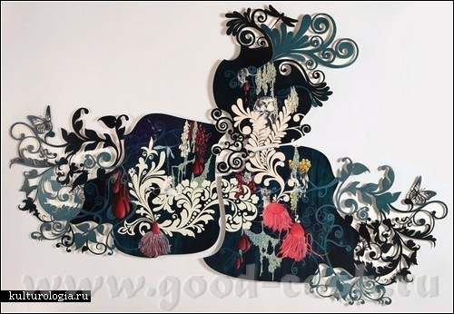 Нестардантные картины Резы Блэтман Она -3-4 месяца разрабатывает на компьютере дизайн,потом вырезае... - 2