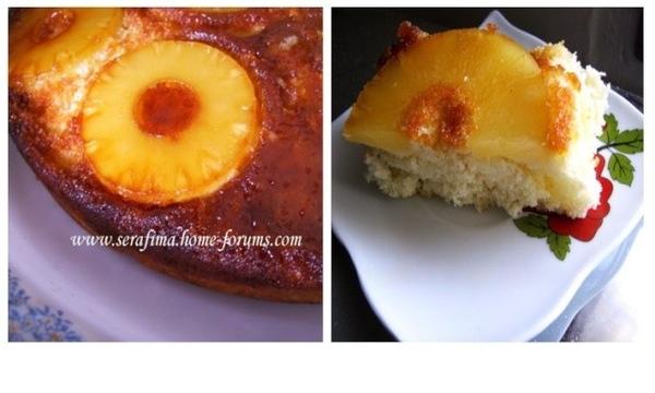 Ананасовый пирог-перевертыш с карамелью