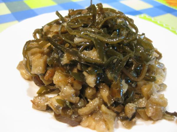 Морская капуста по-корейски с баклажанами