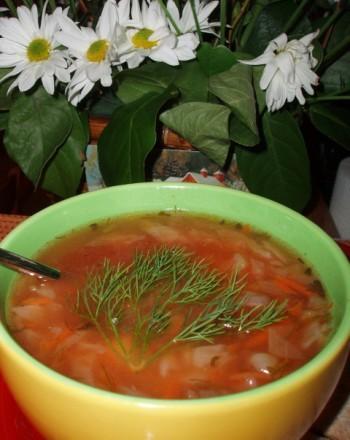 Суп с куринными фрикадельками Весенний супчик от моей свекрови Капустный супец - 3